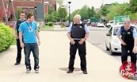 دوربین مخفی خنده دار رقصیدن پلیس